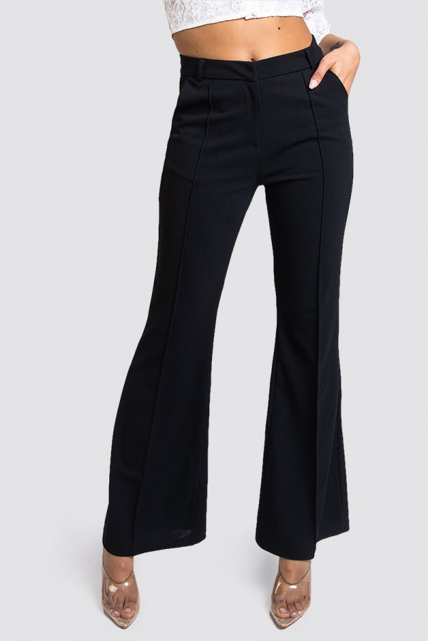 Bootcut Byxor - Perfect Flared Crepe Pants