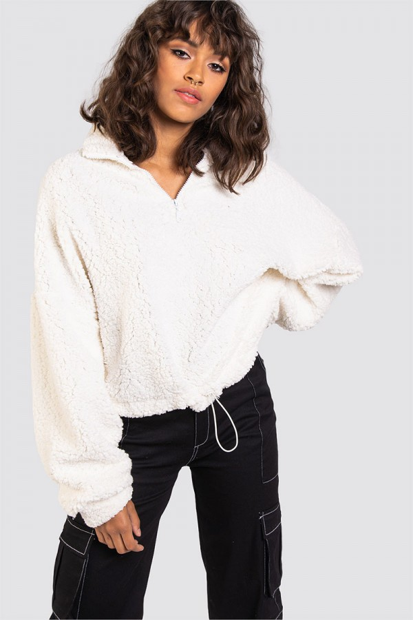 Teddy Sweatshirt - Super Soft White