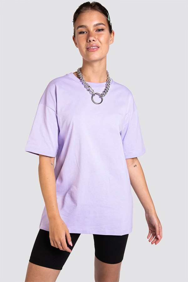 Oversize T-shirt - Basic Purple