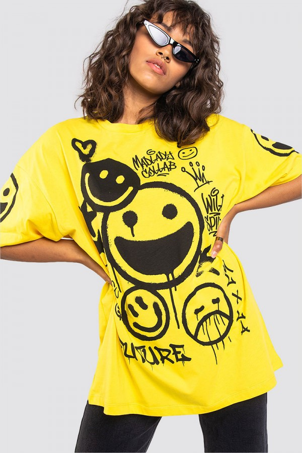 Oversize T-shirt - Smiley