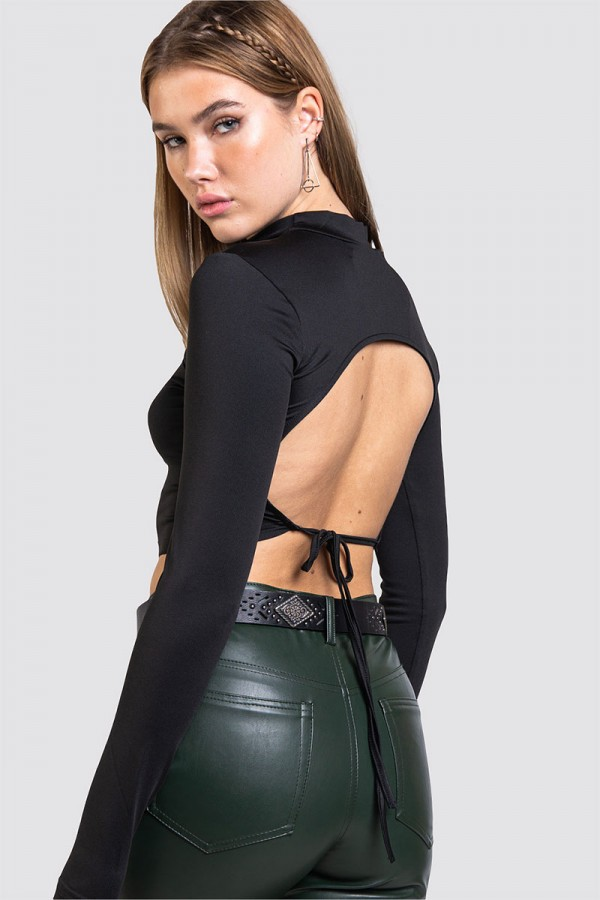 Open Back Top - Rounded Corners Black