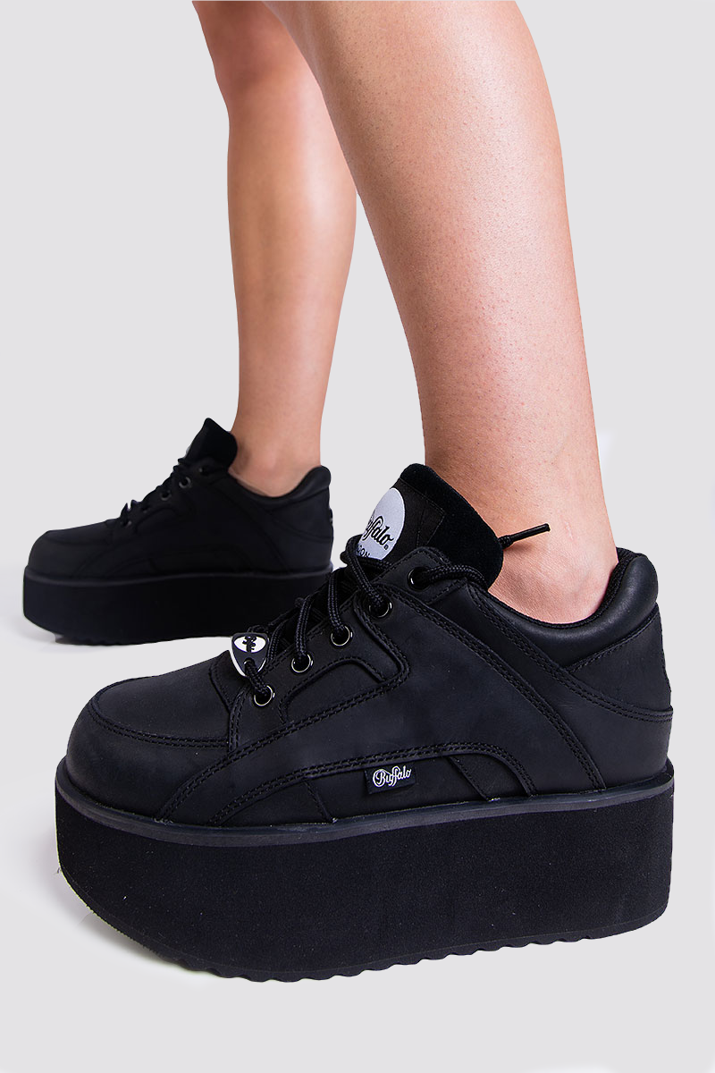 Sneakers Leather Black Buffalo | madlady.no
